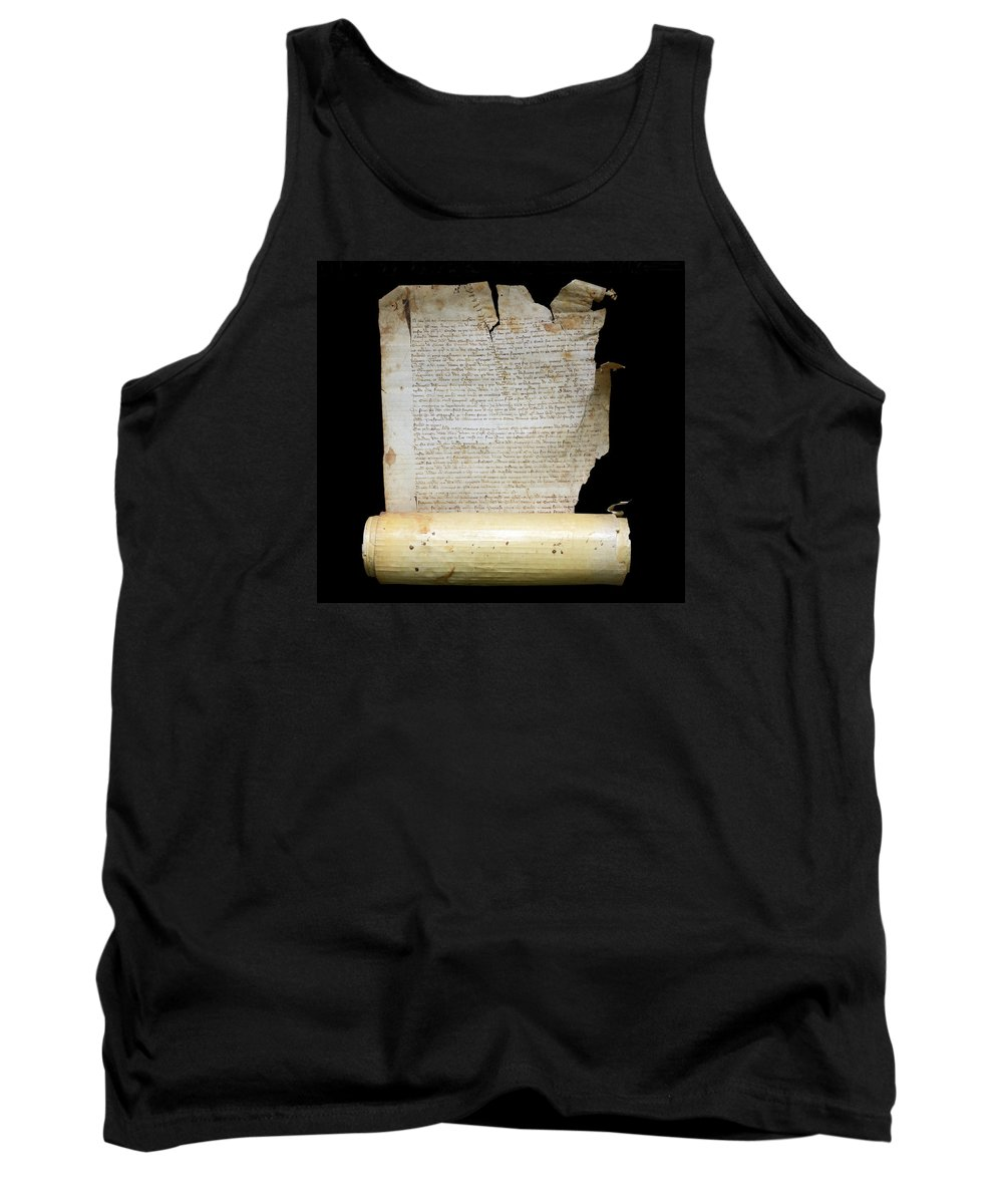 Lawsuit Tank Top featuring the photograph Lawsuit Of The Cathedral Chapter Of Calahorra. Pleito Del Cabildo Catedralicio De Calahorra by RicardMN Photography