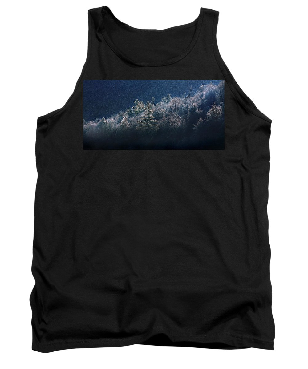 Mountain Tank Top featuring the photograph Light Play by Gray Artus
