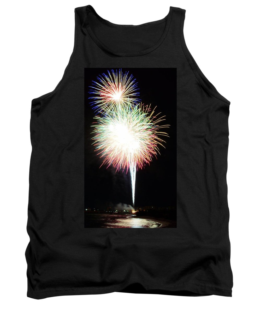 Fireworks Tank Top featuring the photograph Light Up The Night by David Morefield