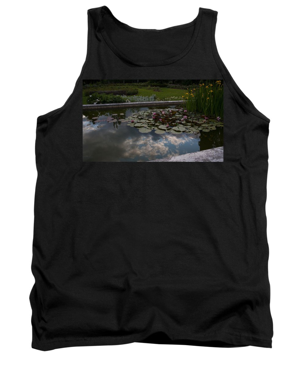 Water Lily Tank Top featuring the photograph Lillies And Clouds by Mike Reid