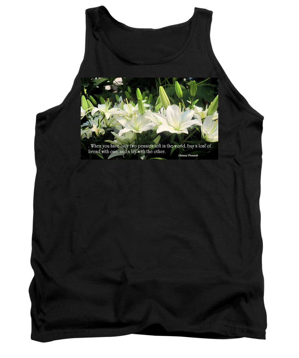 Loaf Tank Top featuring the photograph Loaf And Lilly by Ian MacDonald