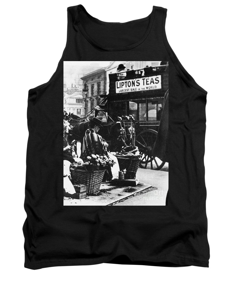 1900 Tank Top featuring the photograph London: Flower Girl, C1900 by Granger