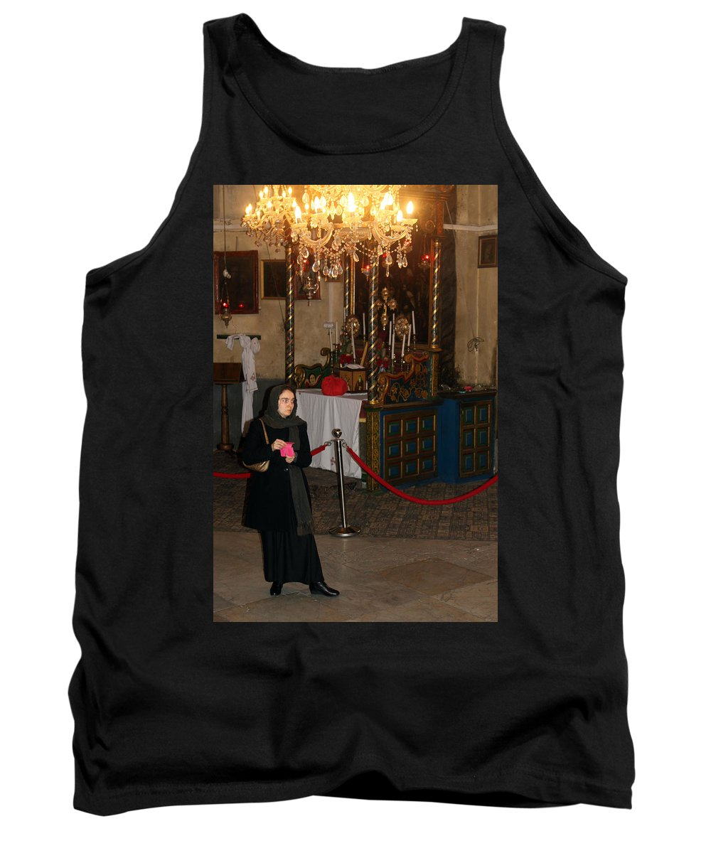 Woman Tank Top featuring the photograph Looking For Change To Lit A Candle by Munir Alawi