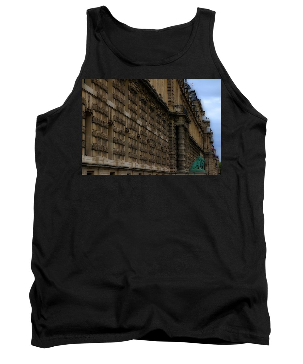 Paris Tank Top featuring the photograph Louvre 2 by Andrew Fare