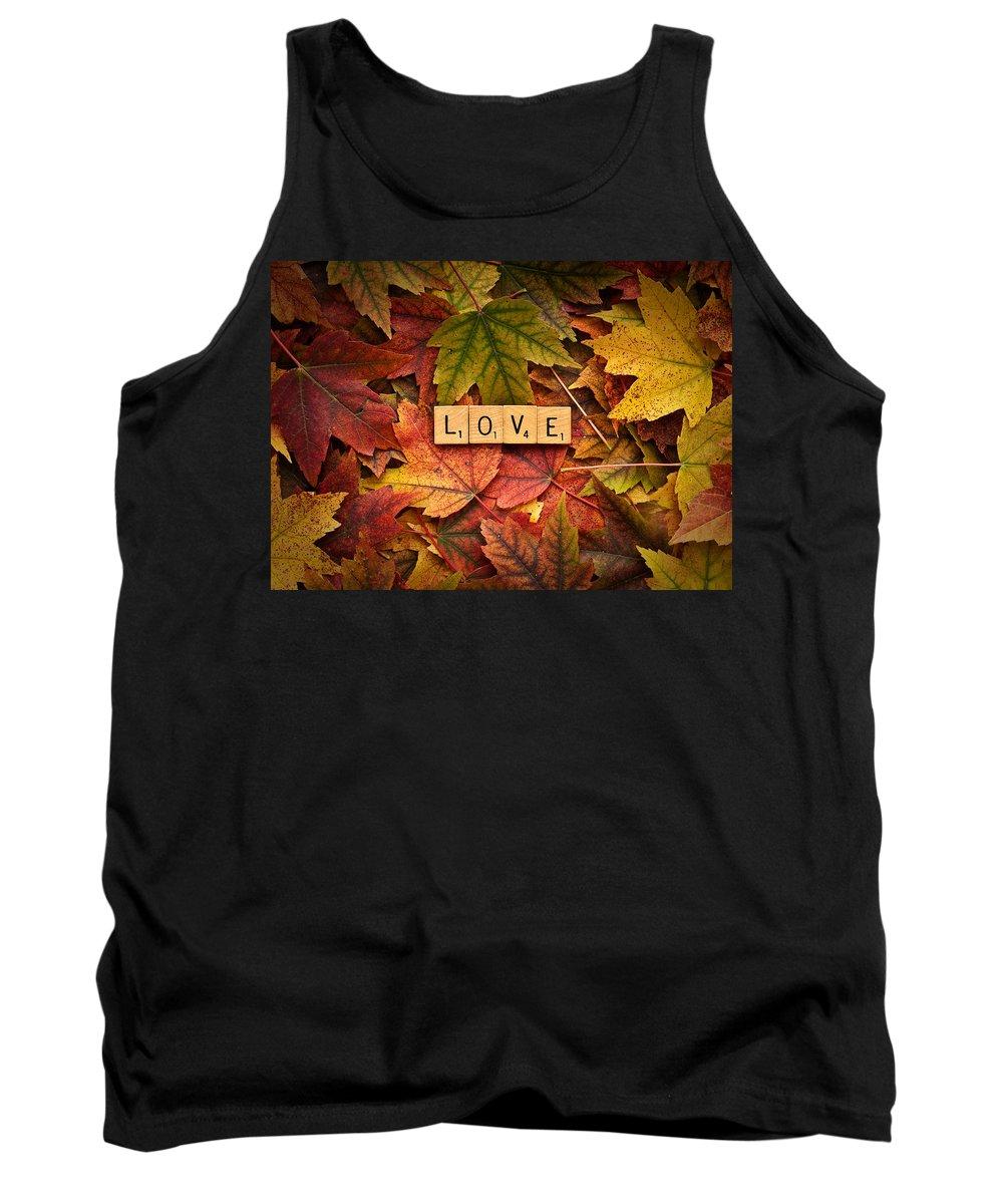 Daniel J. Kmiecik Tank Top featuring the photograph Love-autumn by Onyonet Photo Studios