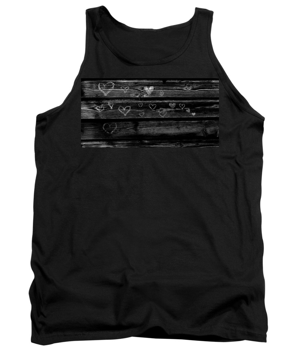 Black And White Tank Top featuring the photograph Love by Michele Nelson