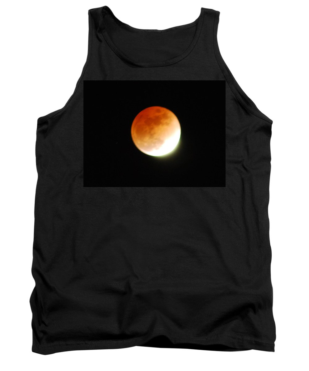 Lunar Tank Top featuring the photograph Lunar Eclipse by Michael Merry