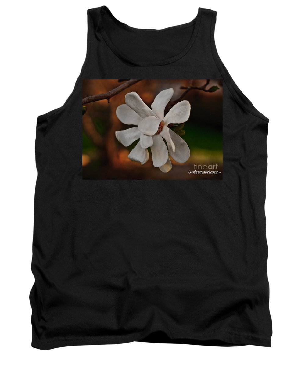 Flowers Tank Top featuring the photograph Magnolia Bloom by Barbara McMahon