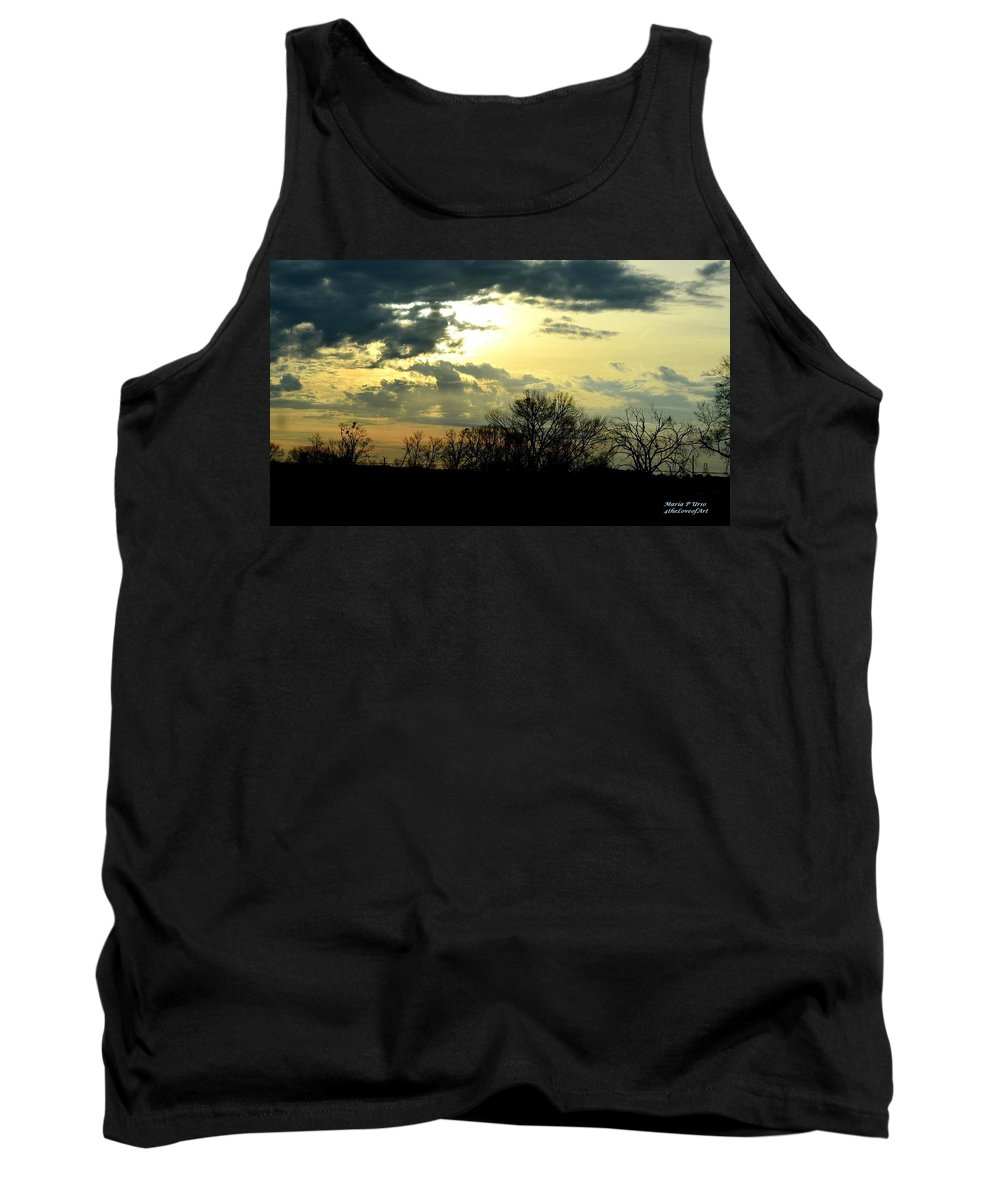 Sky Tank Top featuring the photograph Majestic by Maria Urso