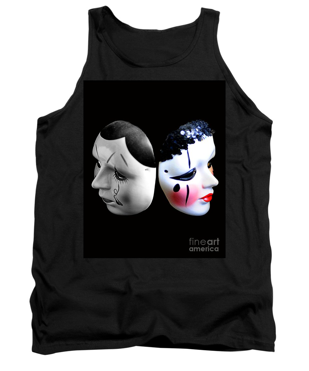 Mask Tank Top featuring the photograph Mask Goodbye by Bruce Bain