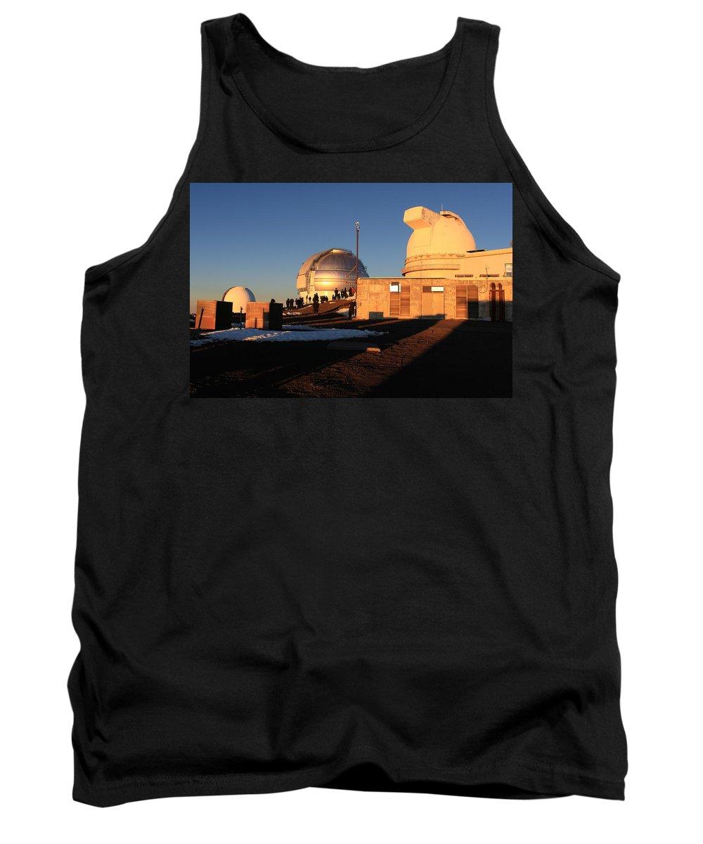 Gemini Tank Top featuring the photograph Mauna Kea Observatories by Scott Rackers