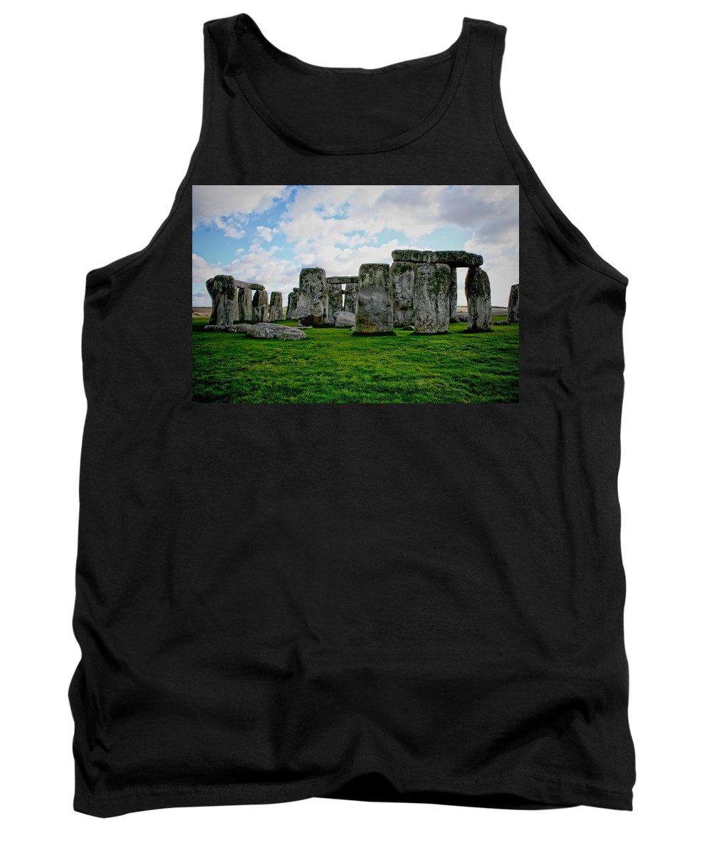 Stonehenge Tank Top featuring the photograph Megaliths by Heather Applegate