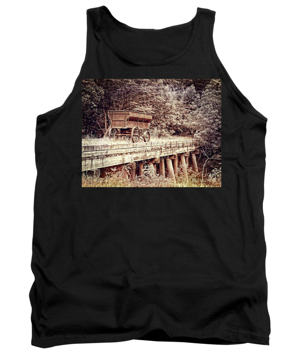 Wagon Tank Top featuring the photograph Metal Wagon On The Trestle by Sharlotte Hughes