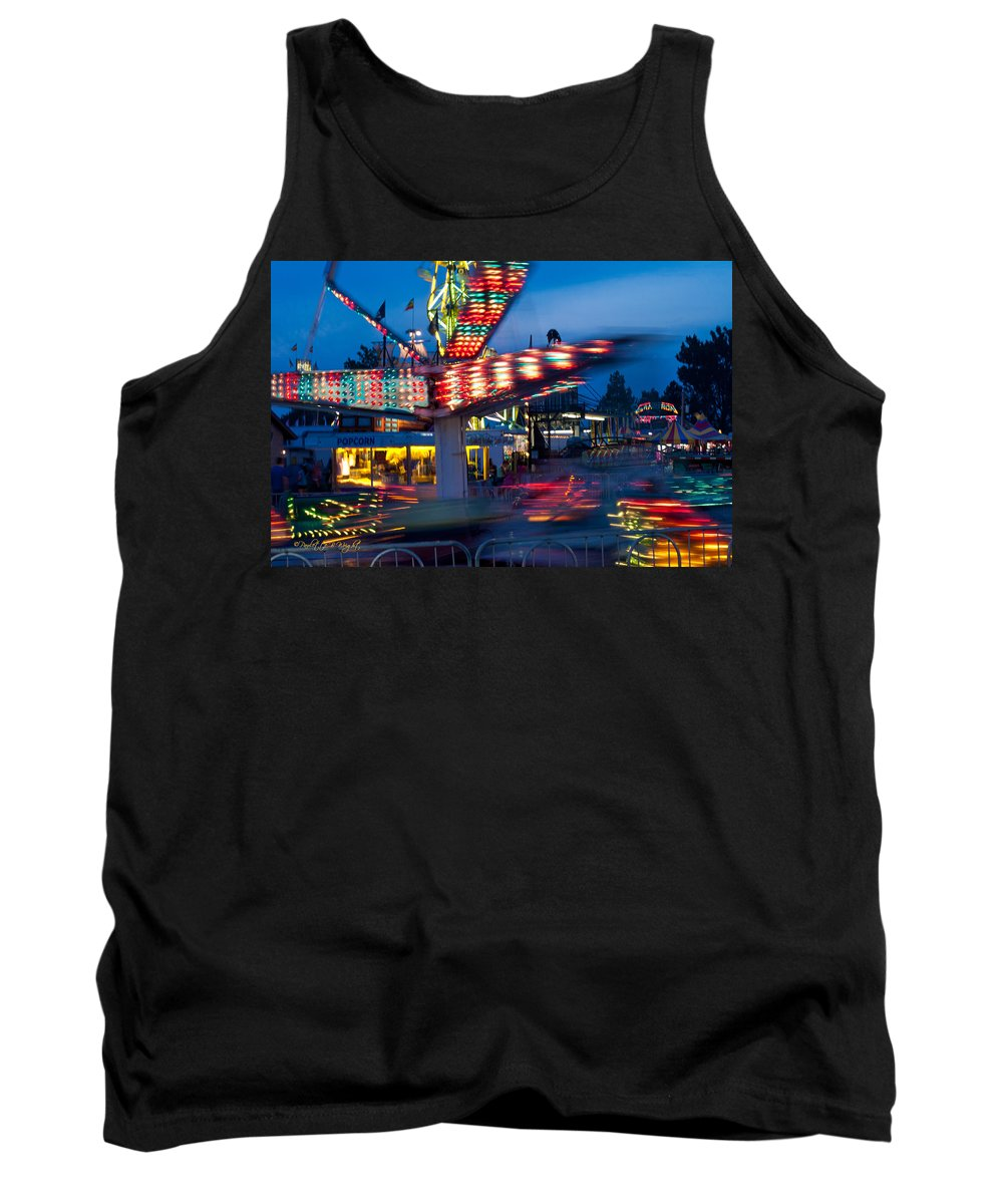Interior Design Tank Top featuring the photograph Midway Blur by Paulette B Wright