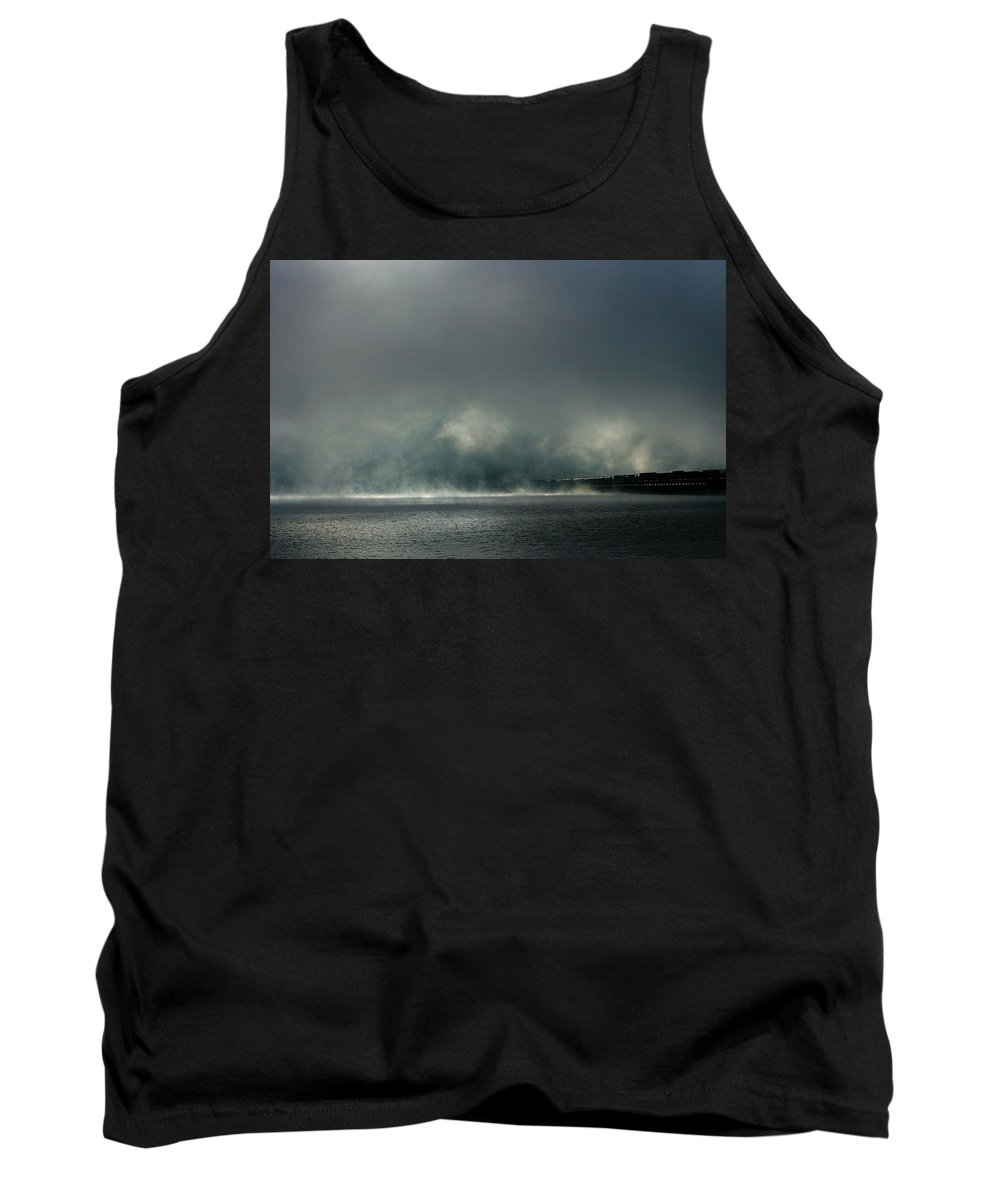 Sandpoint Tank Top featuring the photograph Misty Crossing-2 by Marie-Dominique Verdier