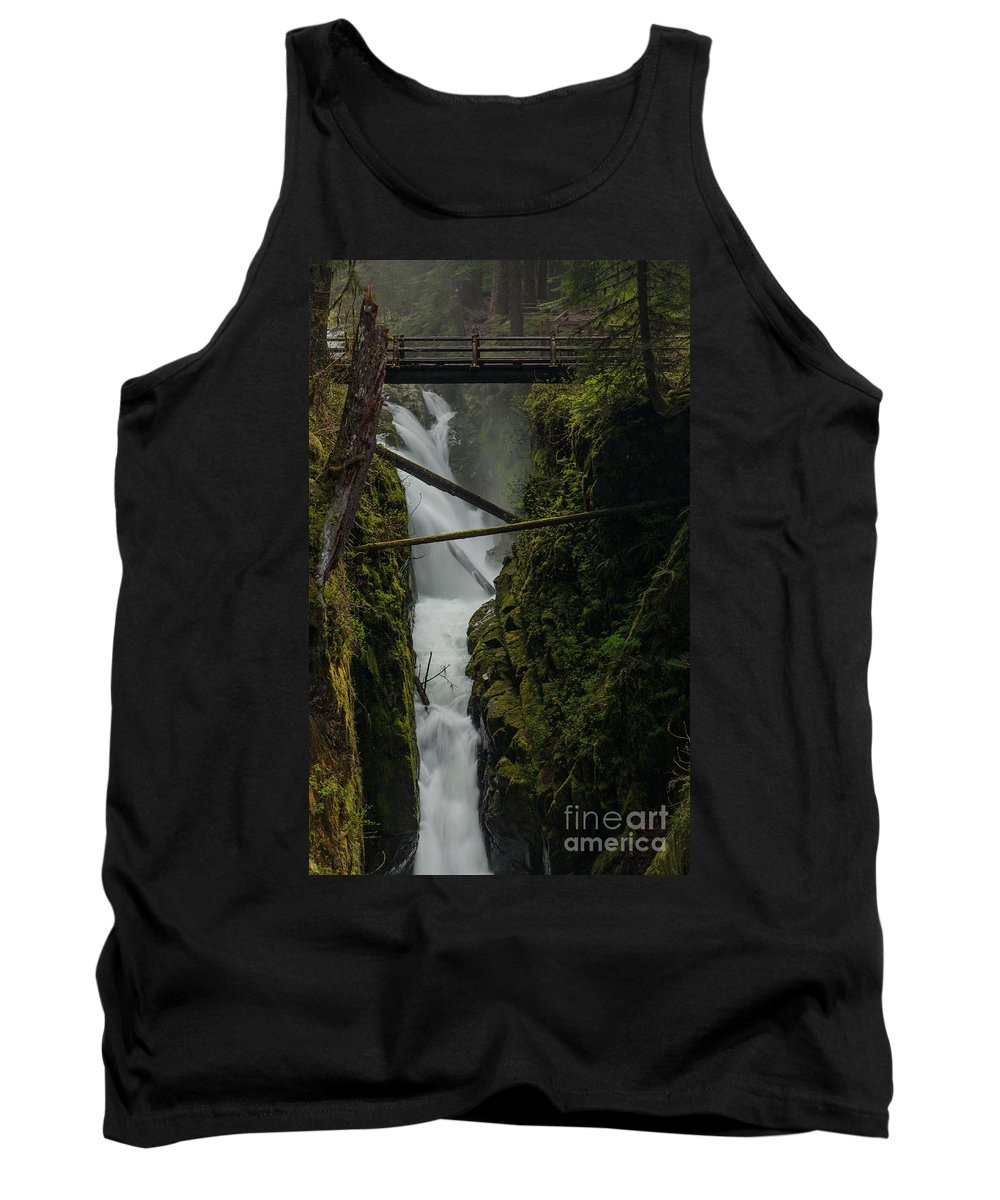 Olympic National Park Tank Top featuring the photograph Misty Torrent by Mike Reid