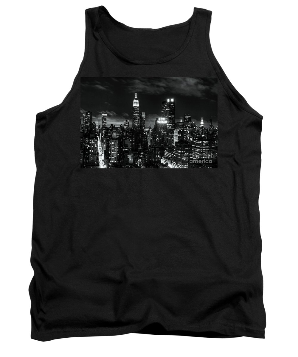 New York Tank Top featuring the photograph Monochrome City by Andrew Paranavitana