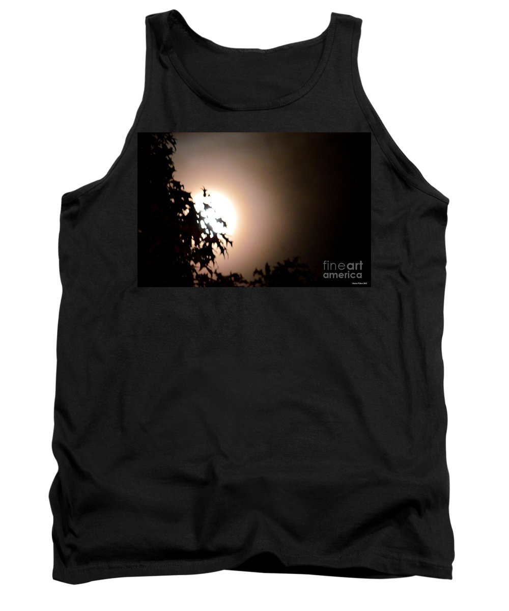 Moonlit Oak Tank Top featuring the photograph Moonlit Oak by Maria Urso