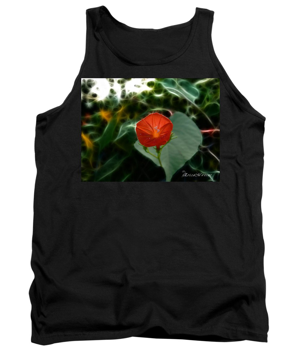 Fractals Tank Top featuring the photograph Morning Glory Fractal by Ericamaxine Price