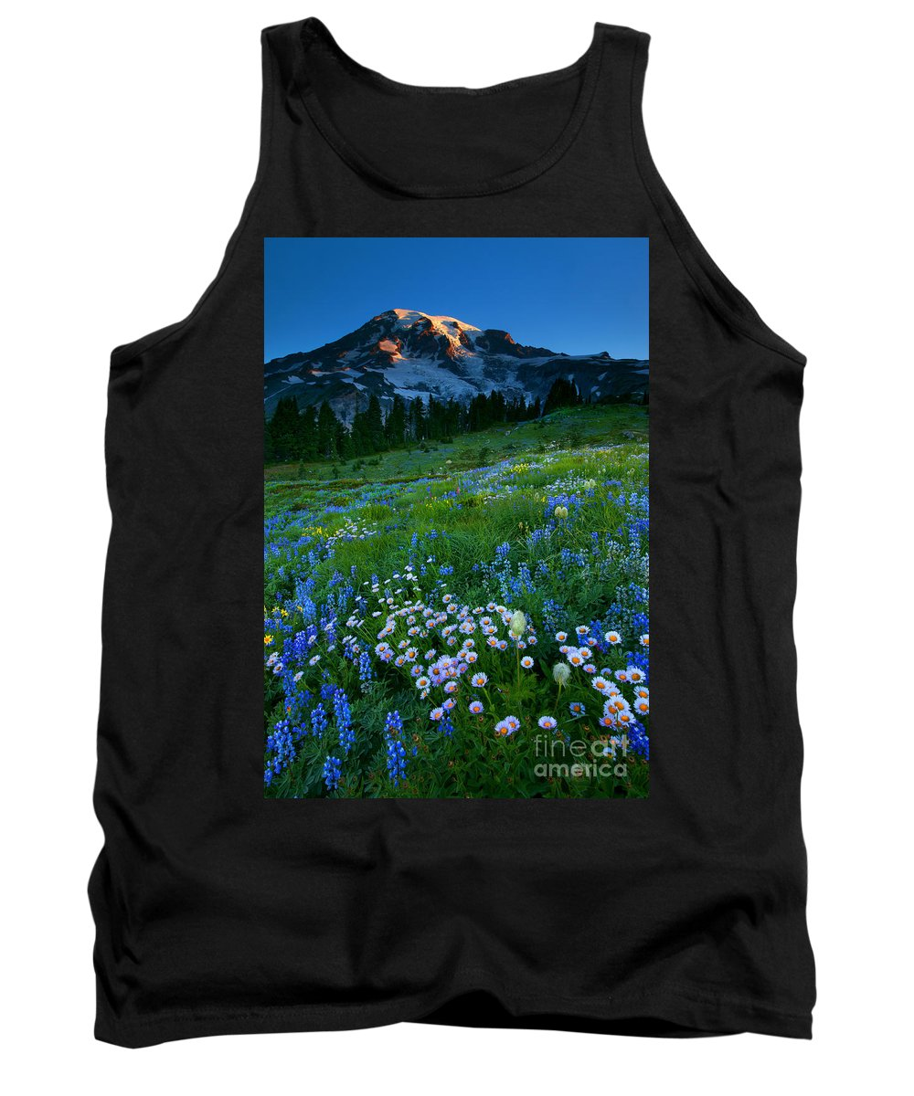Rainier Tank Top featuring the photograph Morning Majesty by Mike Dawson