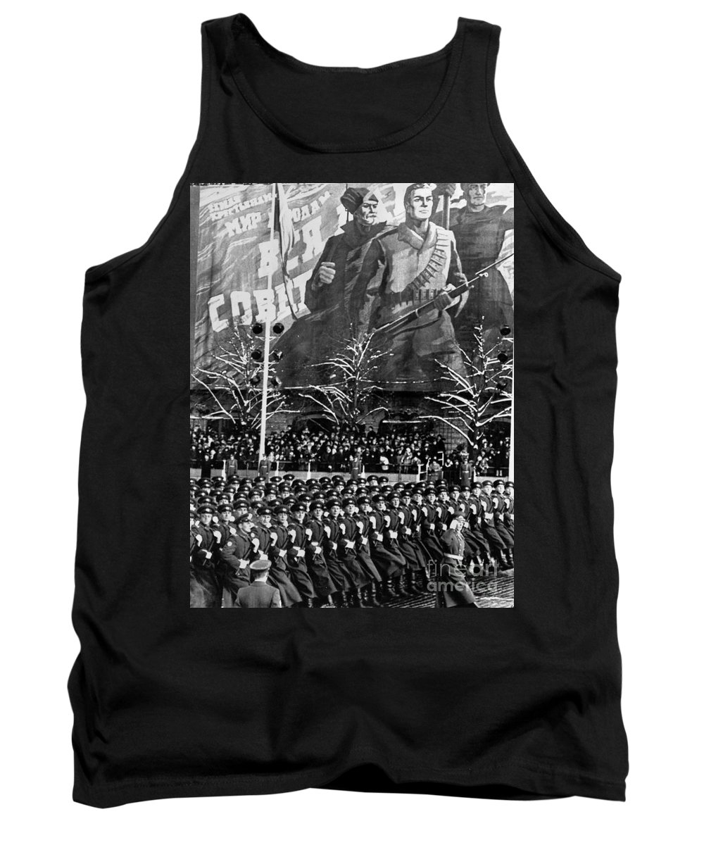 1969 Tank Top featuring the photograph Moscow: Military Parade by Granger