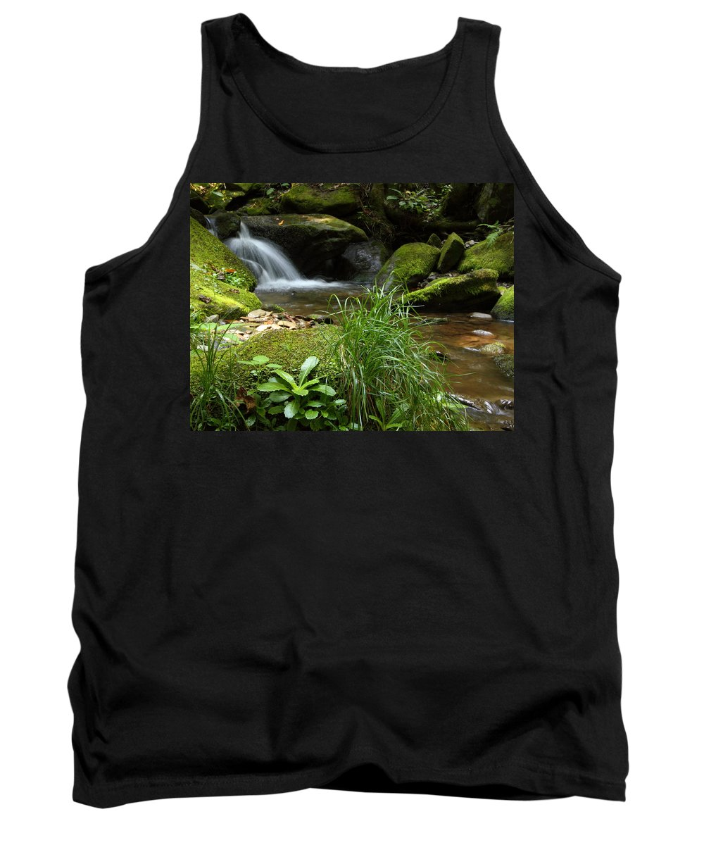 Tennessee Tank Top featuring the photograph Moss And Water And Ambience by Andrew McInnes