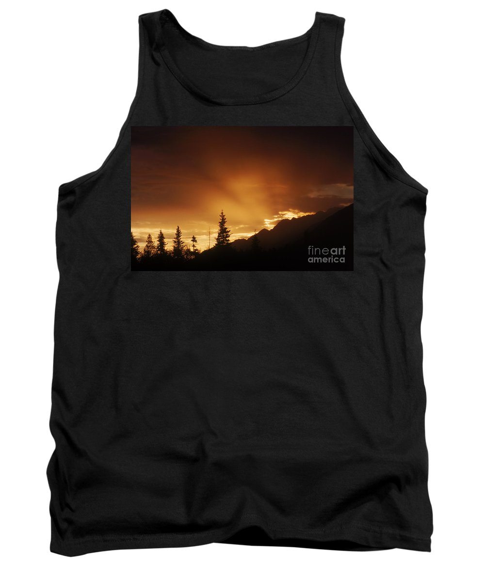 Mountain Tank Top featuring the photograph Mountain Sunset by Bruce M Herman and Photo Researchers