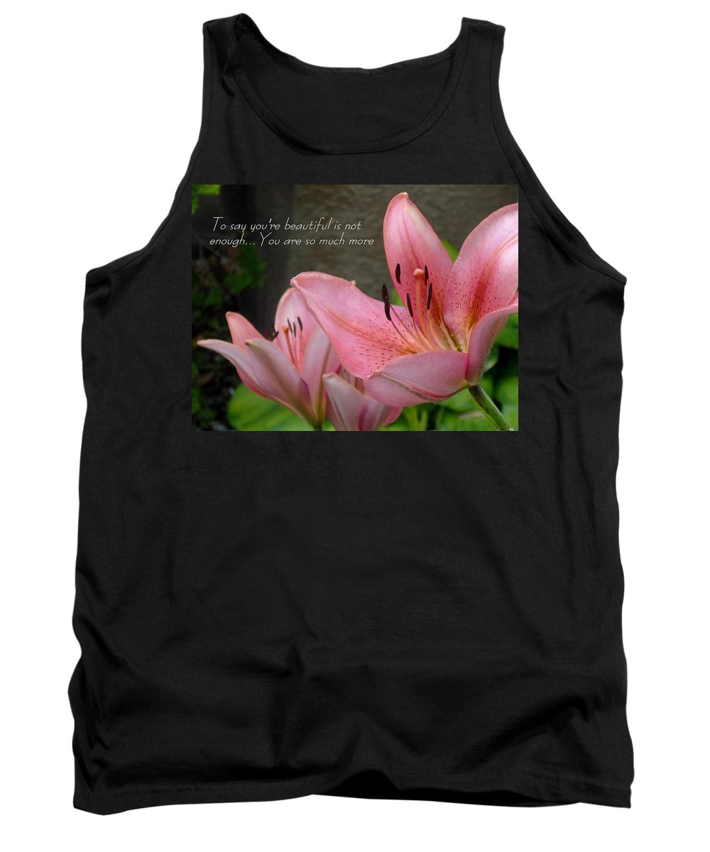 Card Tank Top featuring the photograph Much More by Deborah Crew-Johnson