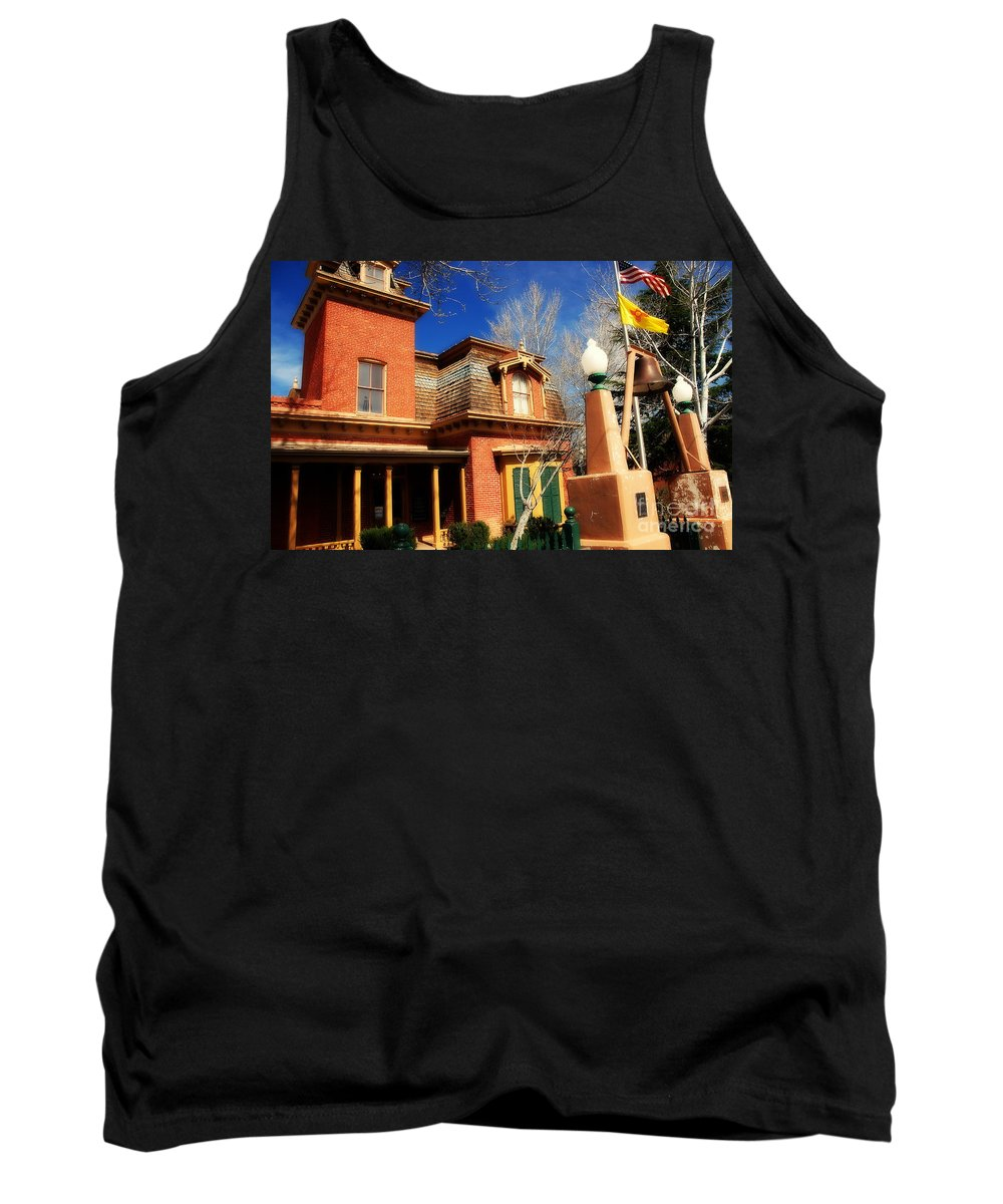 Museum Tank Top featuring the photograph Museum In Silver City Nm by Susanne Van Hulst