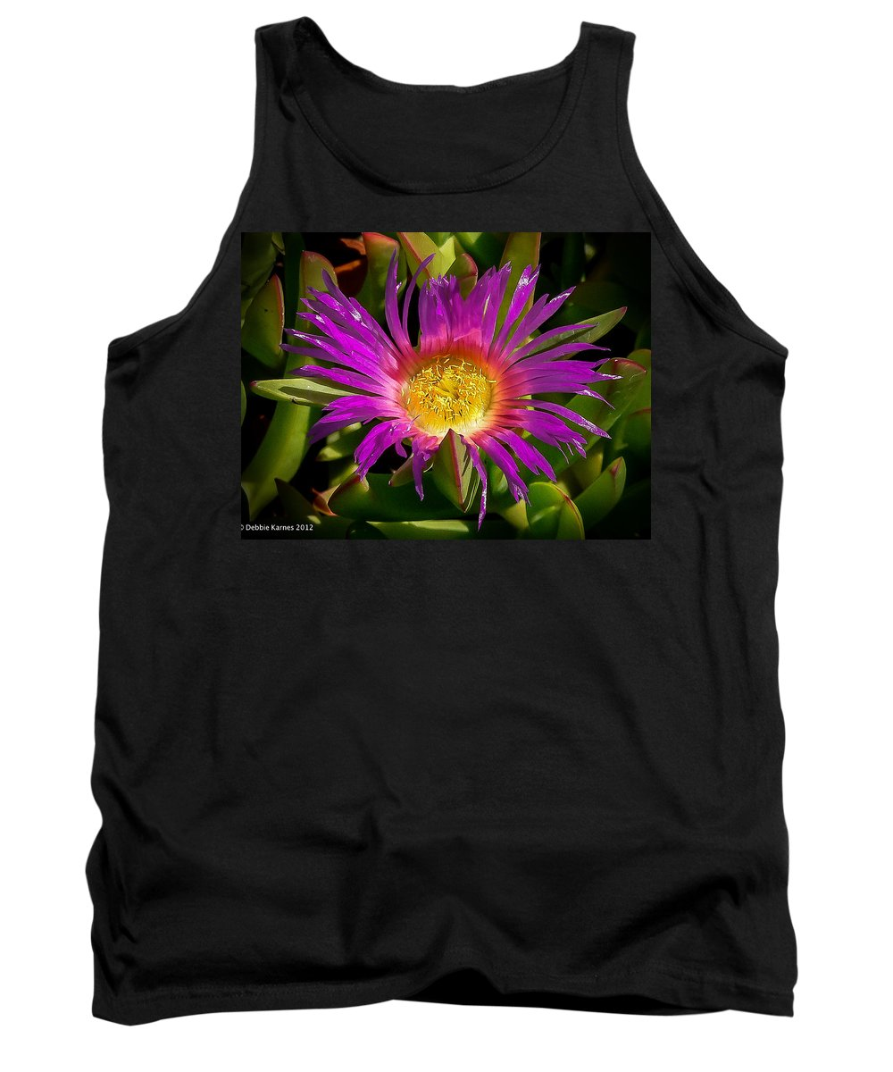 Flower Tank Top featuring the photograph Nature Aglow by Debbie Karnes