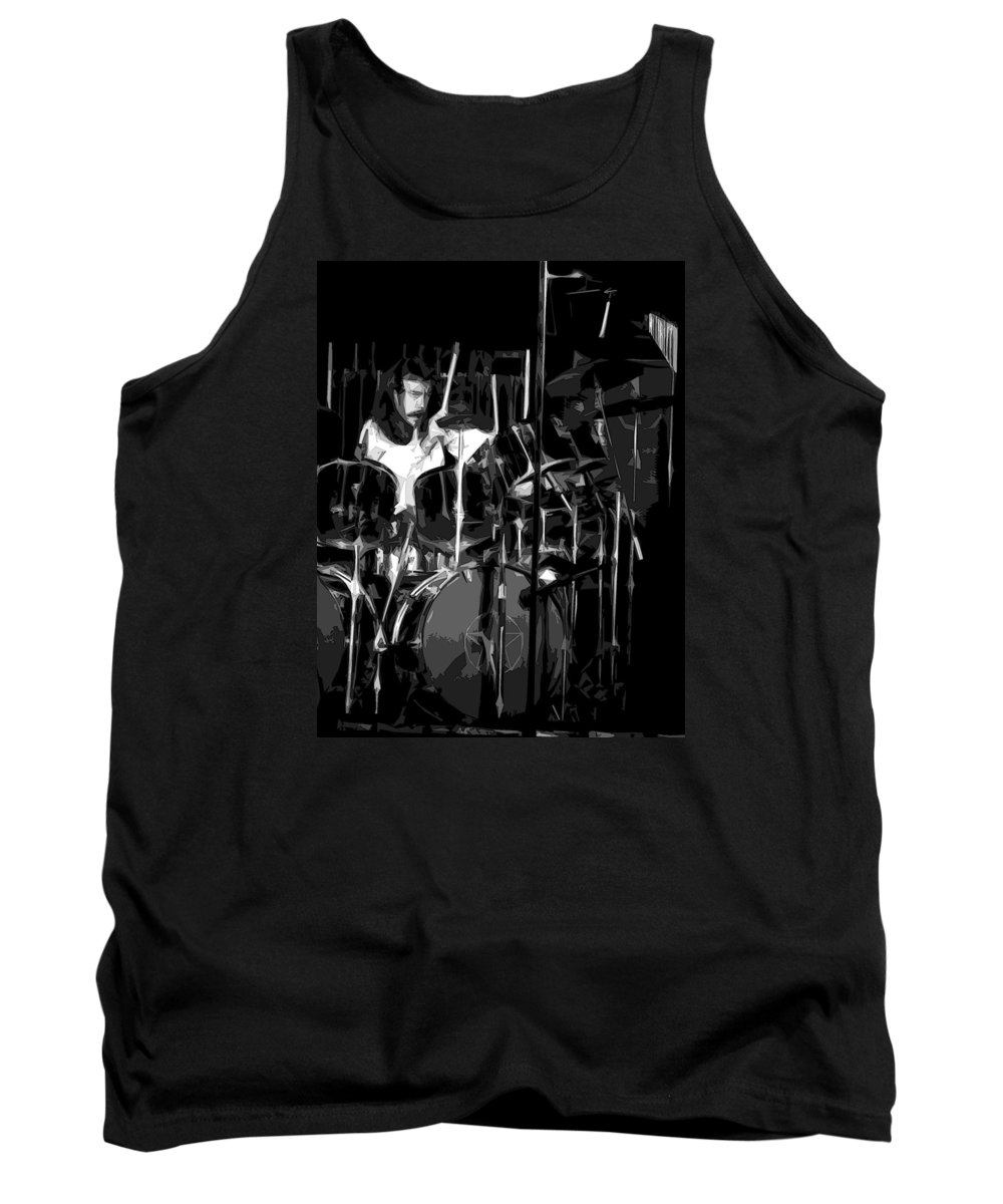 Rock Art Tank Top featuring the photograph Drums by Ben Upham