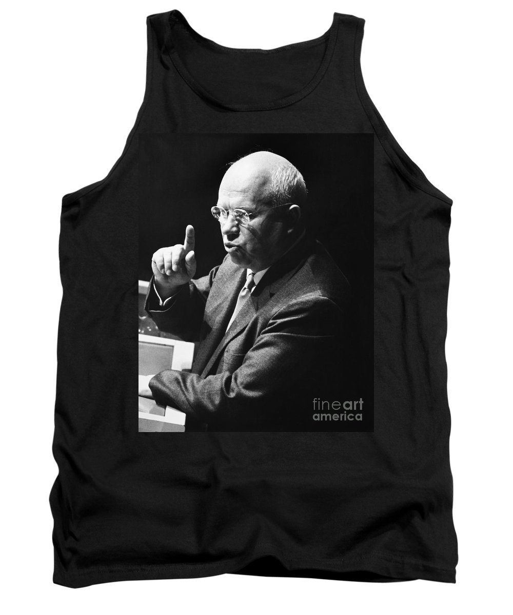 1960 Tank Top featuring the photograph Nikita Khrushchev by Granger
