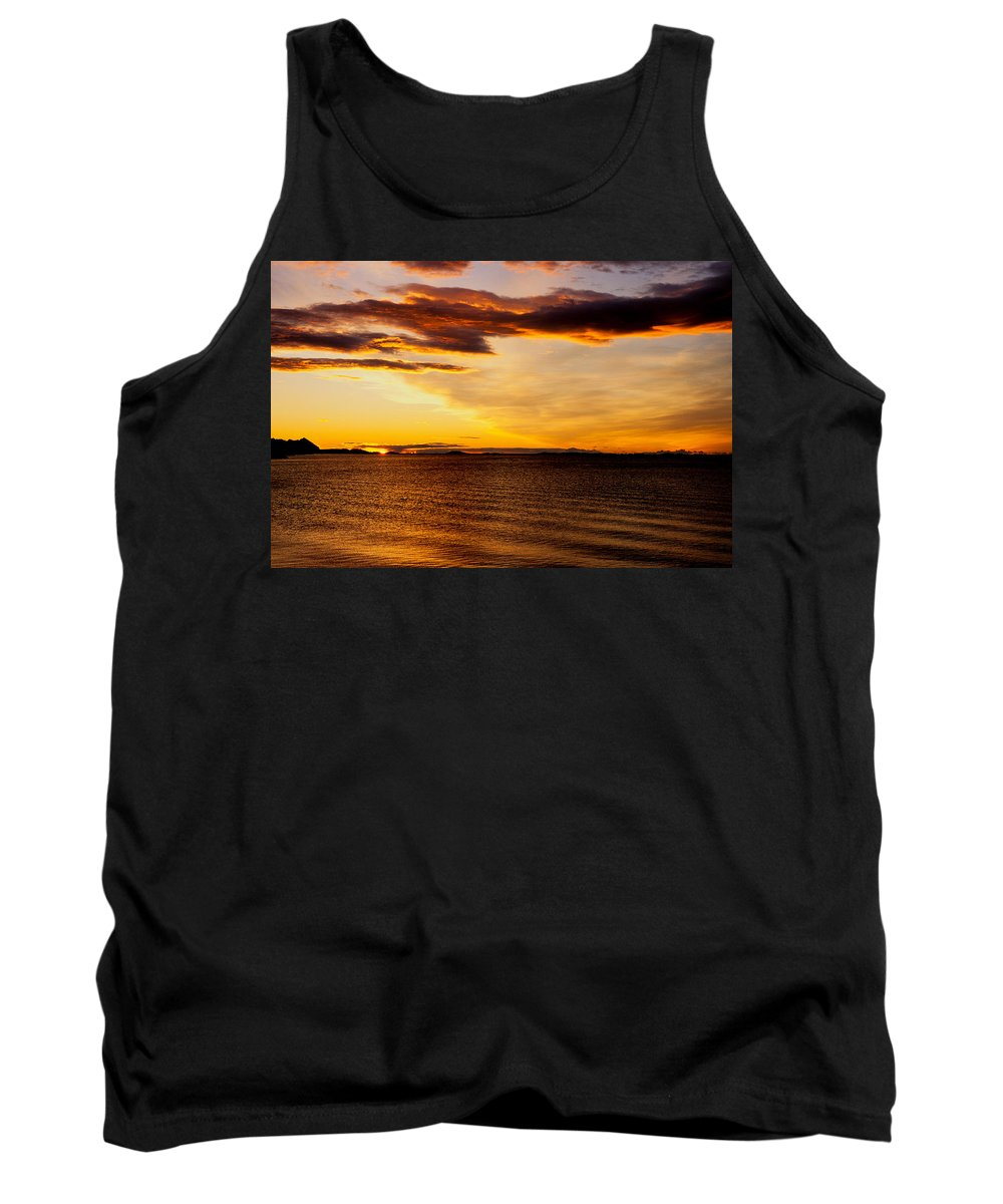 Bodo Tank Top featuring the photograph Northern Sunset by Hakon Soreide