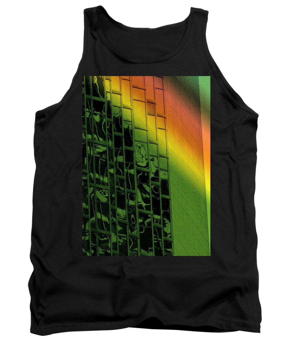 Abstract Tank Top featuring the photograph Office Windows by Ian MacDonald
