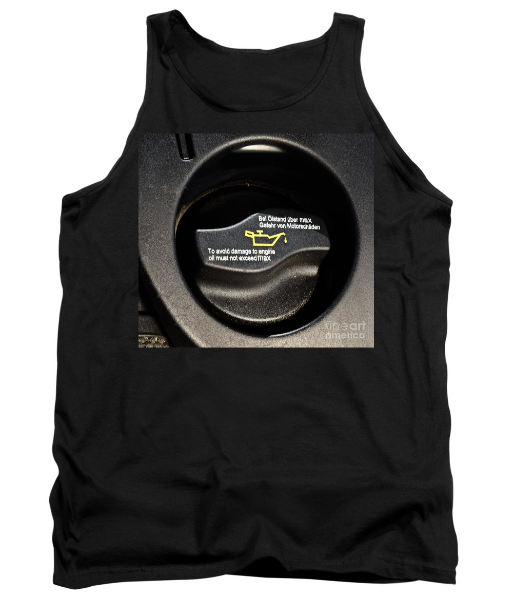 Auto Tank Top featuring the photograph Oil Valve Cap by Photo Researchers