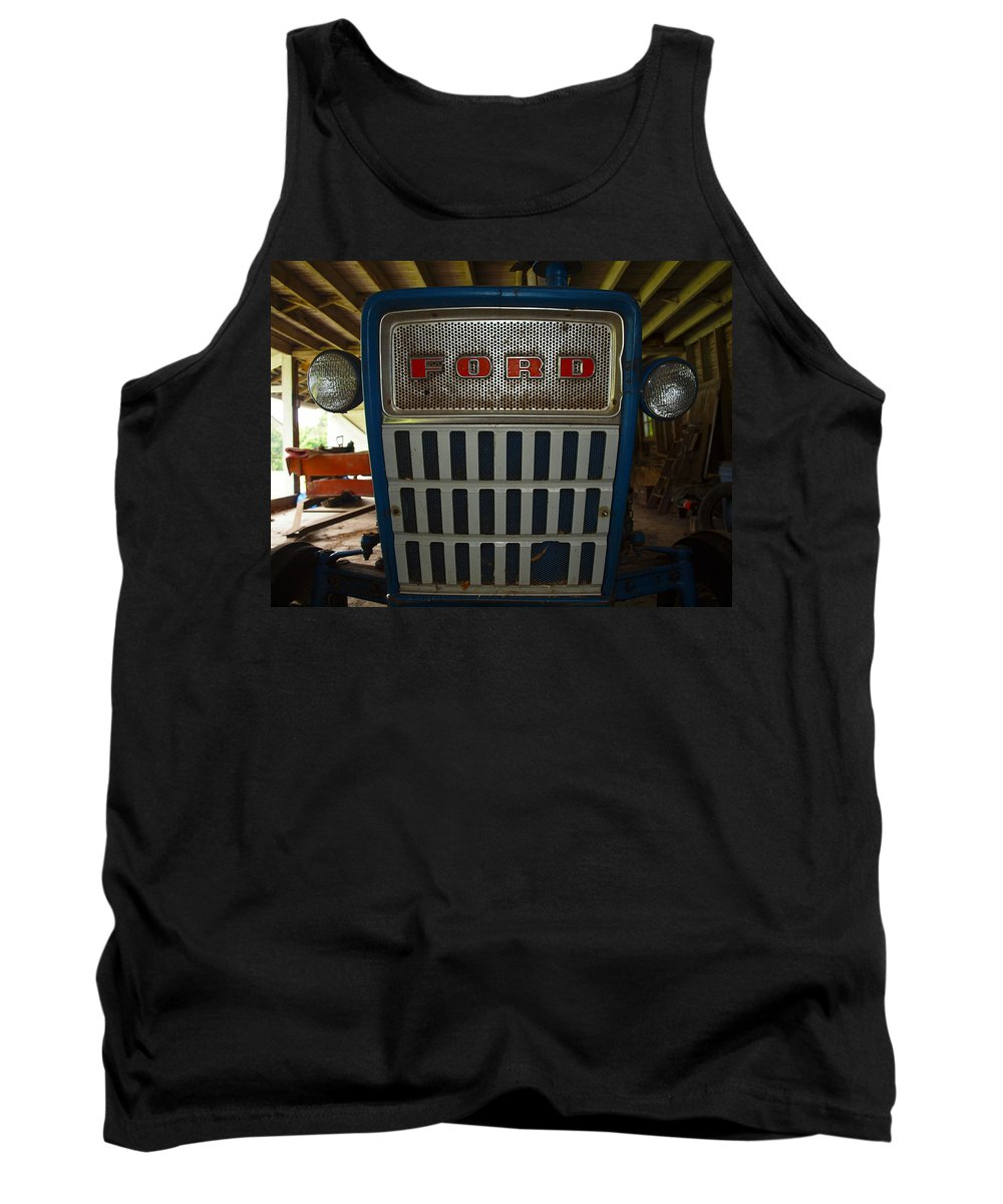 Farm Animals Tank Top featuring the photograph Old Ford Tractor by Robert Margetts