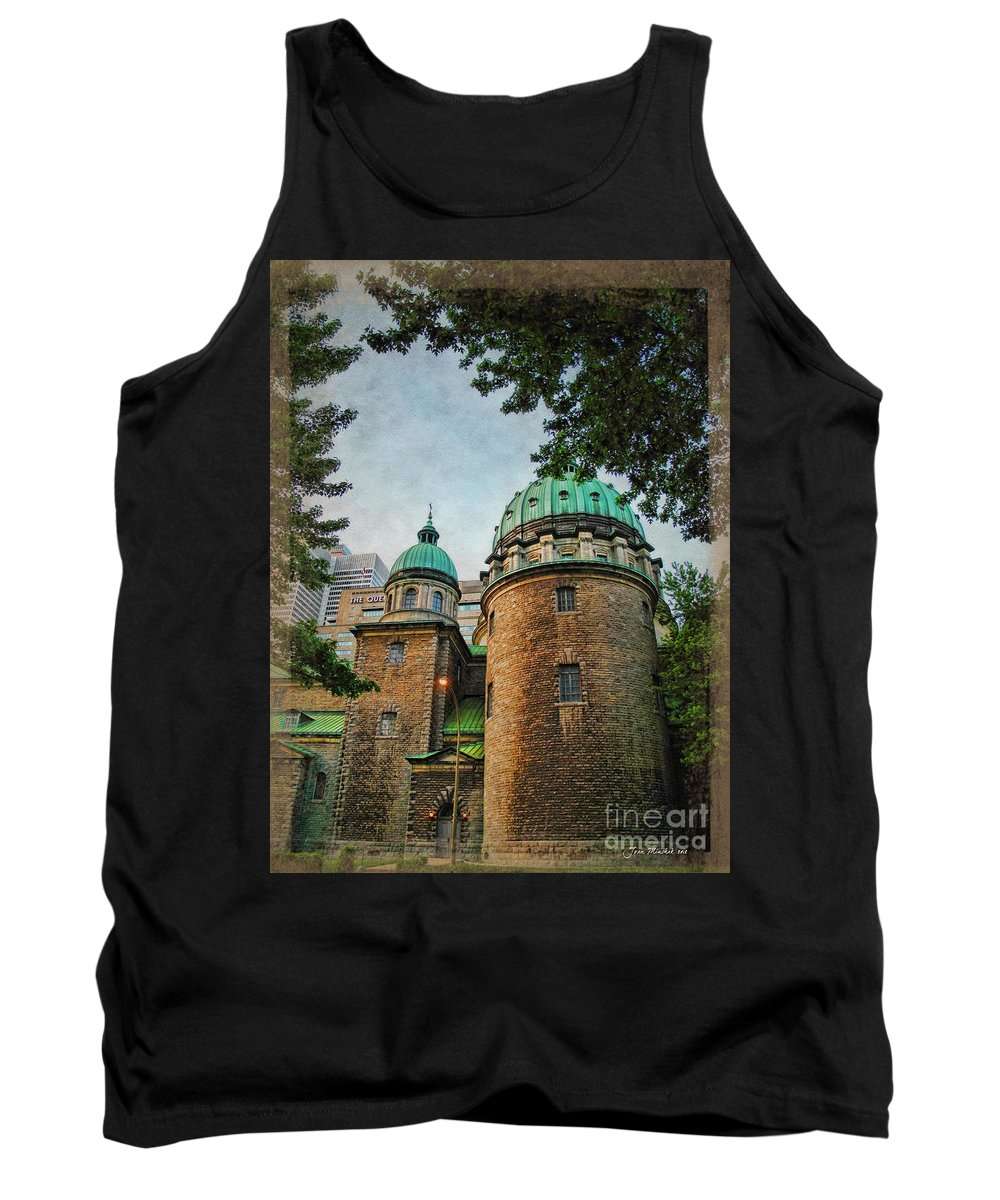 Cathedral Tank Top featuring the photograph Old Montreal Church by Joan Minchak
