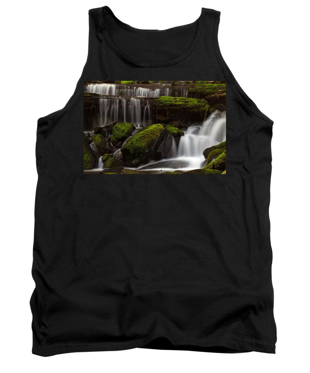 Olympic National Park Tank Top featuring the photograph Olympics Gentle Stream by Mike Reid