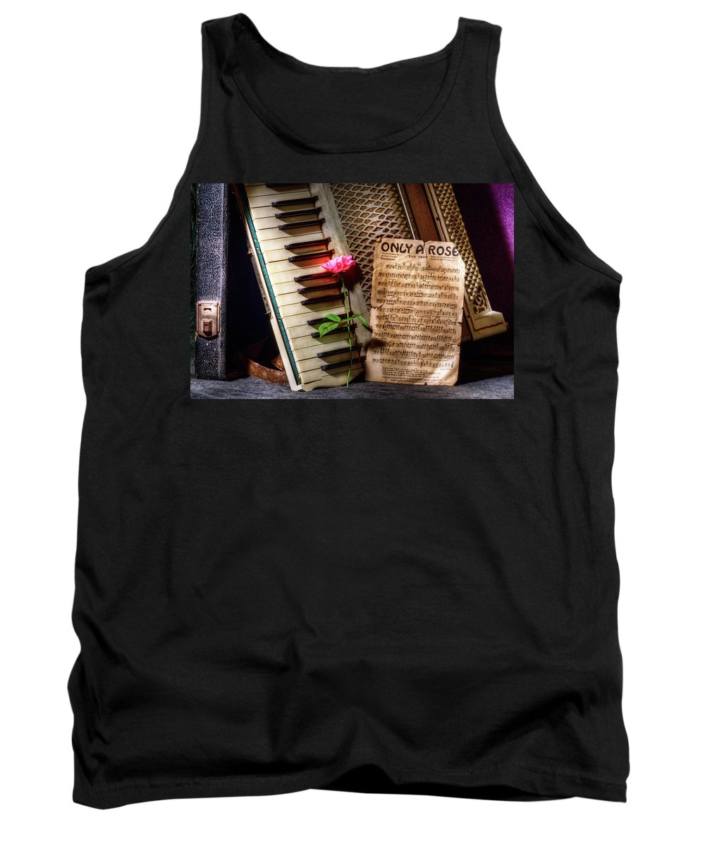 Antique Tank Top featuring the photograph Only A Rose II by Bobbie Climer