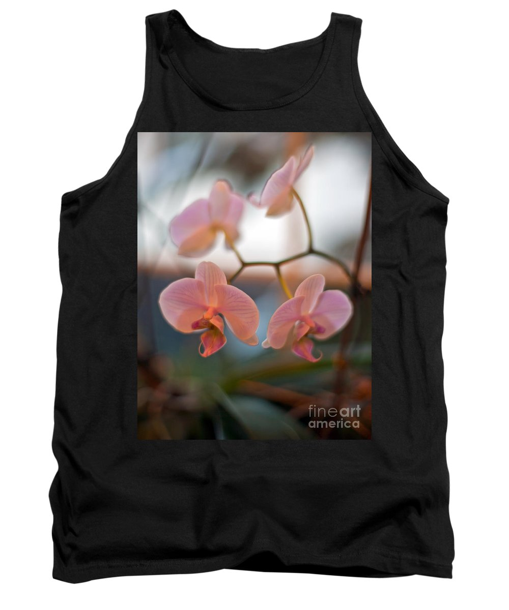 Orchid Tank Top featuring the photograph Orchid Gathering by Mike Reid