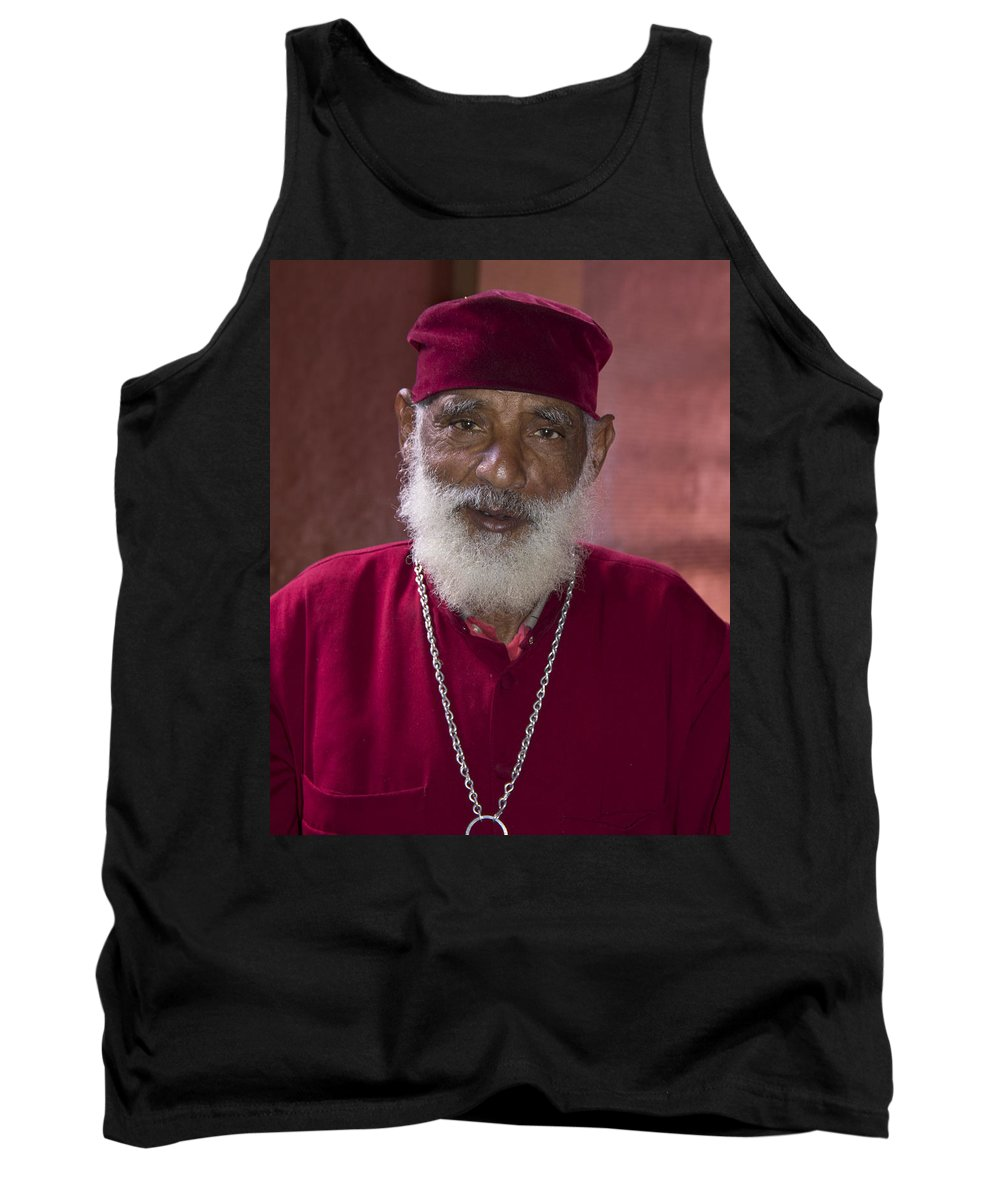 Africa Tank Top featuring the painting Orthodox Priest Of Addis Ababa by Robert SORENSEN