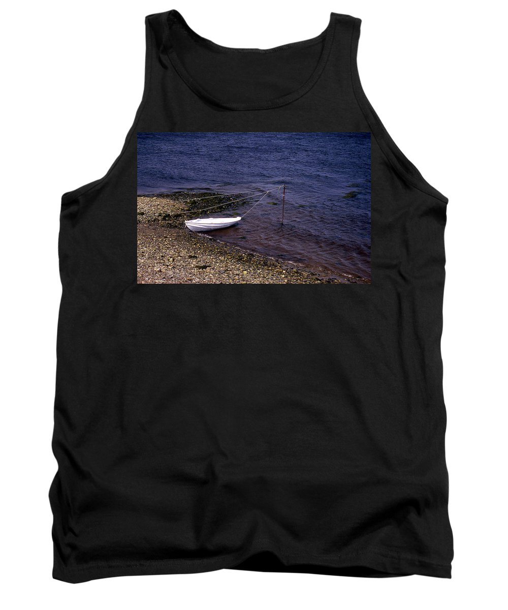 Maine Tank Top featuring the photograph Out To Sea by Skip Willits