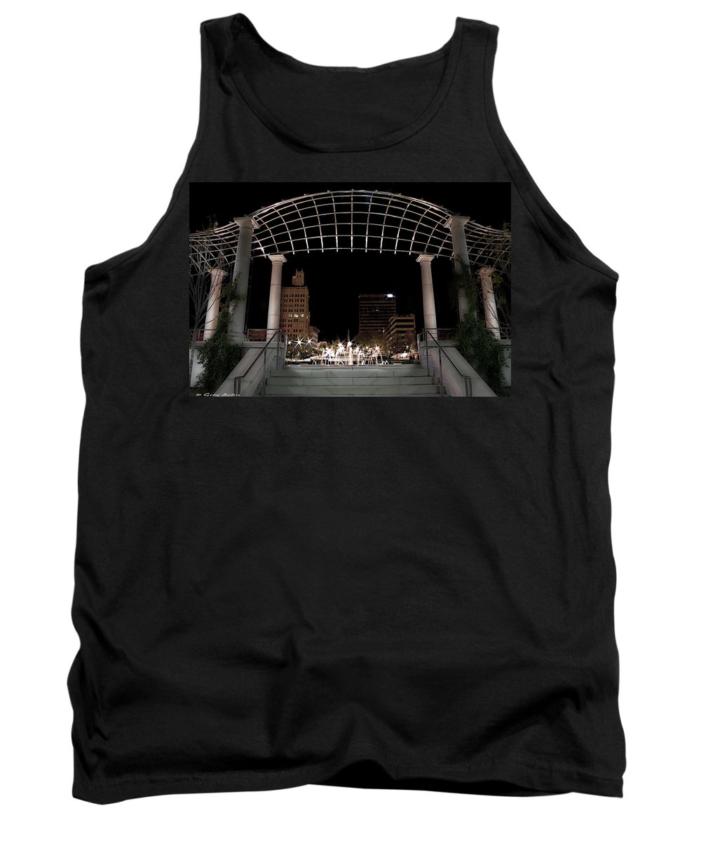 Asheville Tank Top featuring the photograph Pack Square Park Asheville by Gray Artus