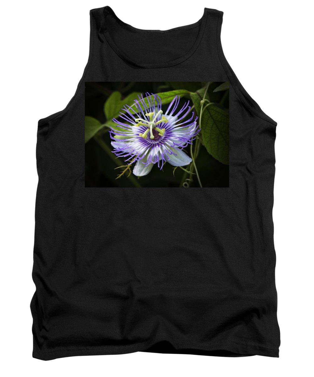 Purple Passion Flower Tank Top featuring the photograph Passion Flower by Saija Lehtonen