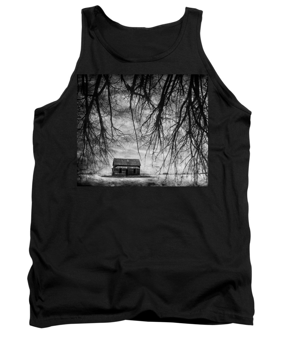 Barn Tank Top featuring the photograph Past The Woods by The Artist Project