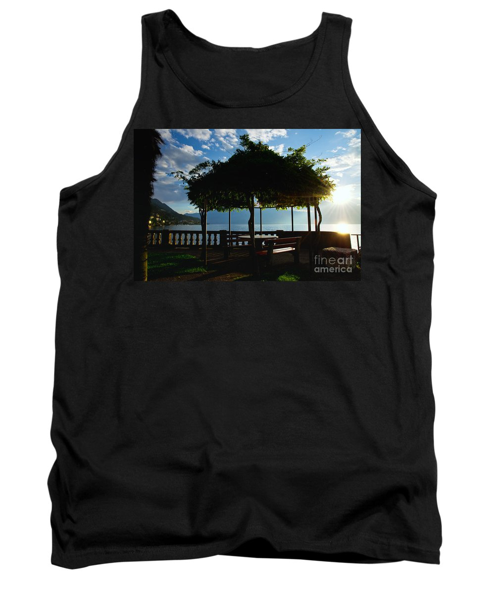 Patio Tank Top featuring the photograph Patio In Backlight by Mats Silvan