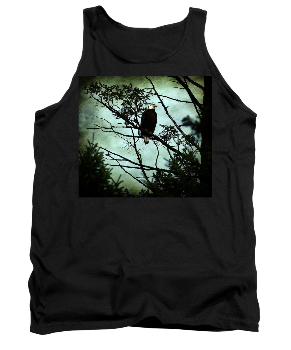 Eagle Tank Top featuring the photograph Perched Raptor by The Artist Project