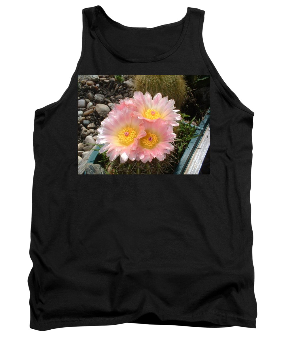 Cactus Tank Top featuring the photograph Pink Cactus by Bonfire Photography
