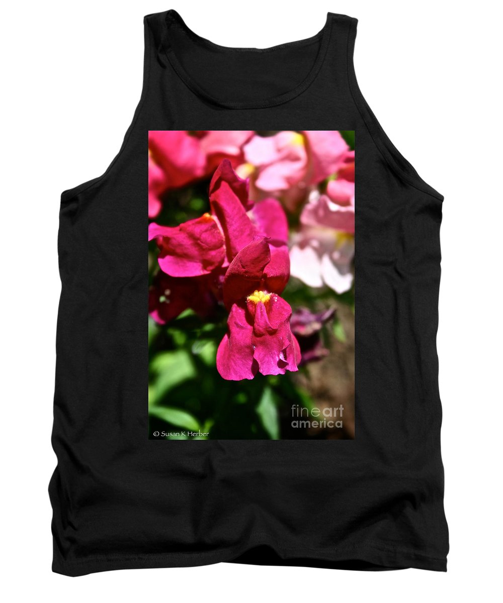Outdoors Tank Top featuring the photograph Pink Snap by Susan Herber