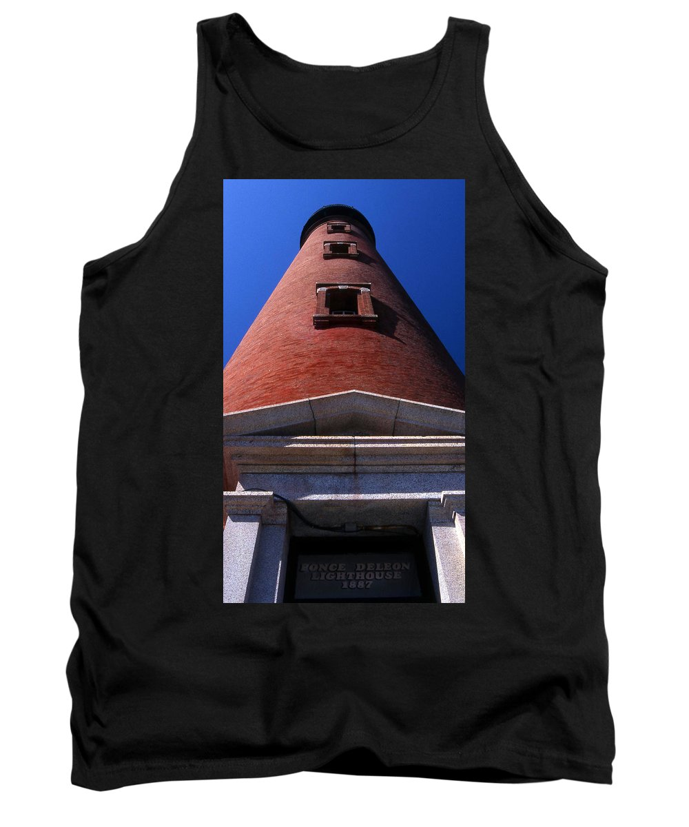 Lighthouse Tank Top featuring the photograph Ponce De Leon Lighthouses by Skip Willits